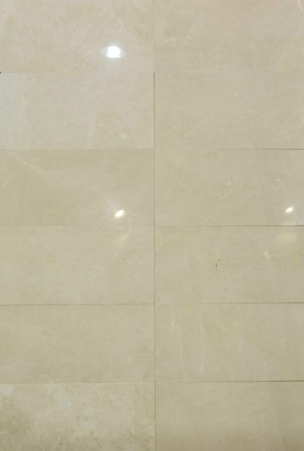 Crema Avoiro is a light beige color natural marble that we stock in our warehouse for a our customer to be able able to see the palettes in our tile shop in Pompano Beach