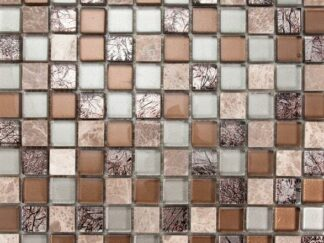 AnneCY is a glass and stone mosaic mix mosaic tile with the glossy finish. Great way to add colors to the kitchen, vanity backsplash, and bathroom walls.