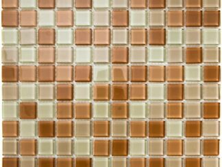 Beige Arid Mini Square Brown, Light Brown and Beige color glass mosaic for kitchen backsplash and bathroom walls
