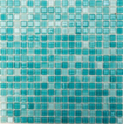 Belize AquaMarine Mini Glass Sqaures Mosaic Tile For Kitchen backsplash and bathroom walls
