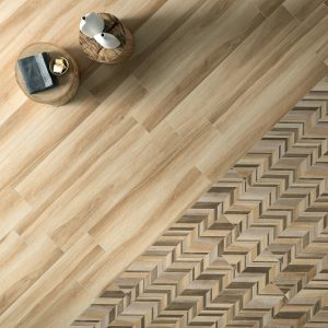 Wood textured tile Gardenia honey is a porcelain floor tile from Italy