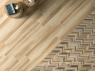 Wood textured tile Gardenia honey is a porcelain floor tile from Italy