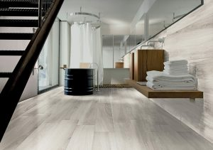 white wood look tile Gardenia White Italian porcelain floor tile