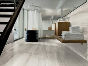 white wood look tile Gardenia White Italian porcelain floor tile