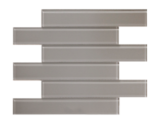 grey glass subway tile