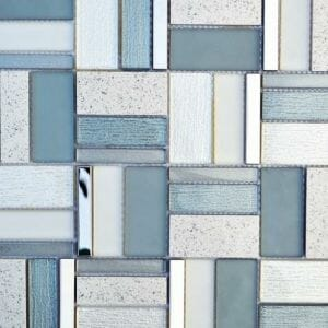 Helsinki Baltic Glass And Metal Mixed Mosaic Tile For Kitchen Backsplash and bathrooms