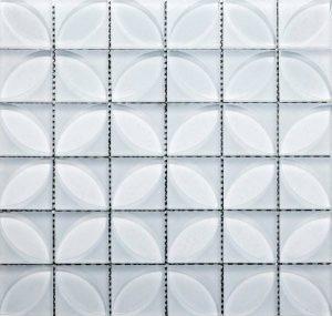 Lauben Blanco White Glass Tile For Kitchen Backsplash and Bathroom Walls