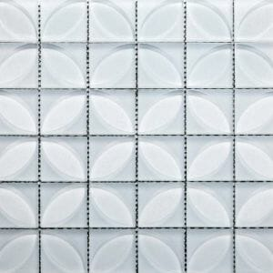 Lauben Blanco White Glass Tile For Kitchen Backsplash and Bathroom Walls