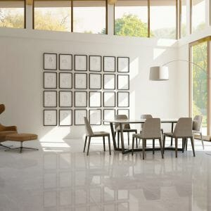 "30"" X 30"" POLISHED PORCELAIN TILE IN LIGHT GREY COLOR"