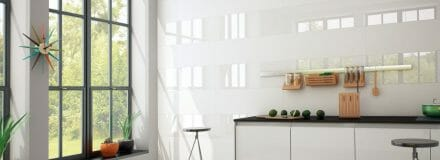 Bianchi Matte - large format wall tile in plain white color