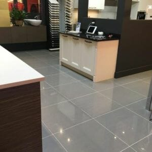 Avanti Steel Polished Porcelain Tile with Rectified Edges