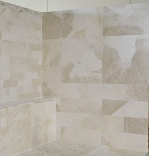 Crema Bella is a natural marble that comes with a white background color and taupe color movements on it. We stock this marble in our warehouse and sell it direct in our Tile Store in Pompano Beach