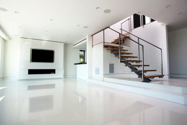 Crystal Thassos Pure White Marble application from Miami Beach condo.