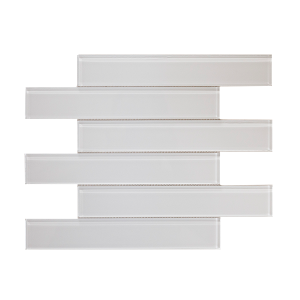 white glass subway tile
