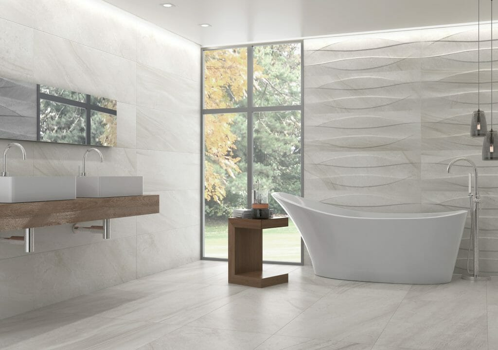Lithium Pearl Light Grey Marble Look Tile From Spain