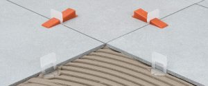 What is the minimum grout lines between tiles
