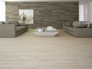Wood effect floors tile is porcelain tile from Spain in maple wood style with grey color grains.
