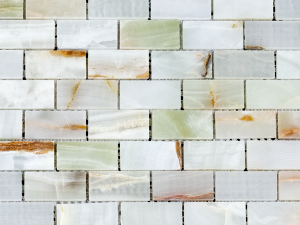 Green Onyx Mini Subway Pattern Mosaic Tile for Kitchen backsplash and bathroom walls