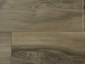 faux wood porcelain floor tile Geo Caoba from Spain with dark wood effect