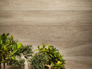 Palmi Tan is a porcelain tile with the look of hardwood floors from Spain