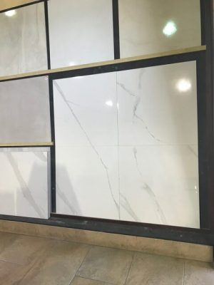 White Marble Look Tile Baranello Showroom Display