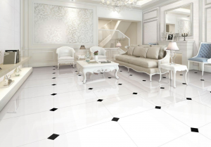 Pure White Large Format Polished Porcelain Floor Tile