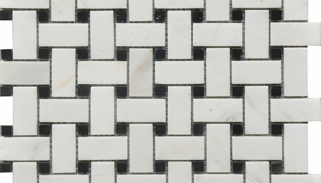 black and white marble basket weaves