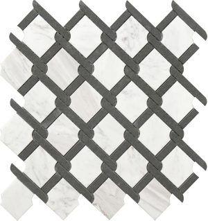 grey and white marble medallion pattern for bathroom and kitchen floors or walls.
