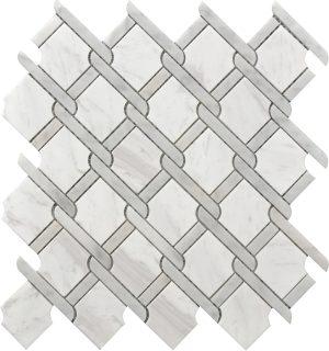 Decorative tile for kitchen backsplash, bathroom, shower wall or floors