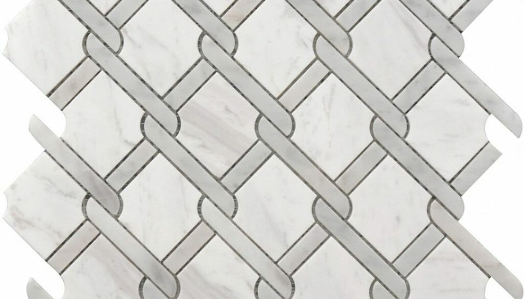 white and Grey Marble Medallion pattern