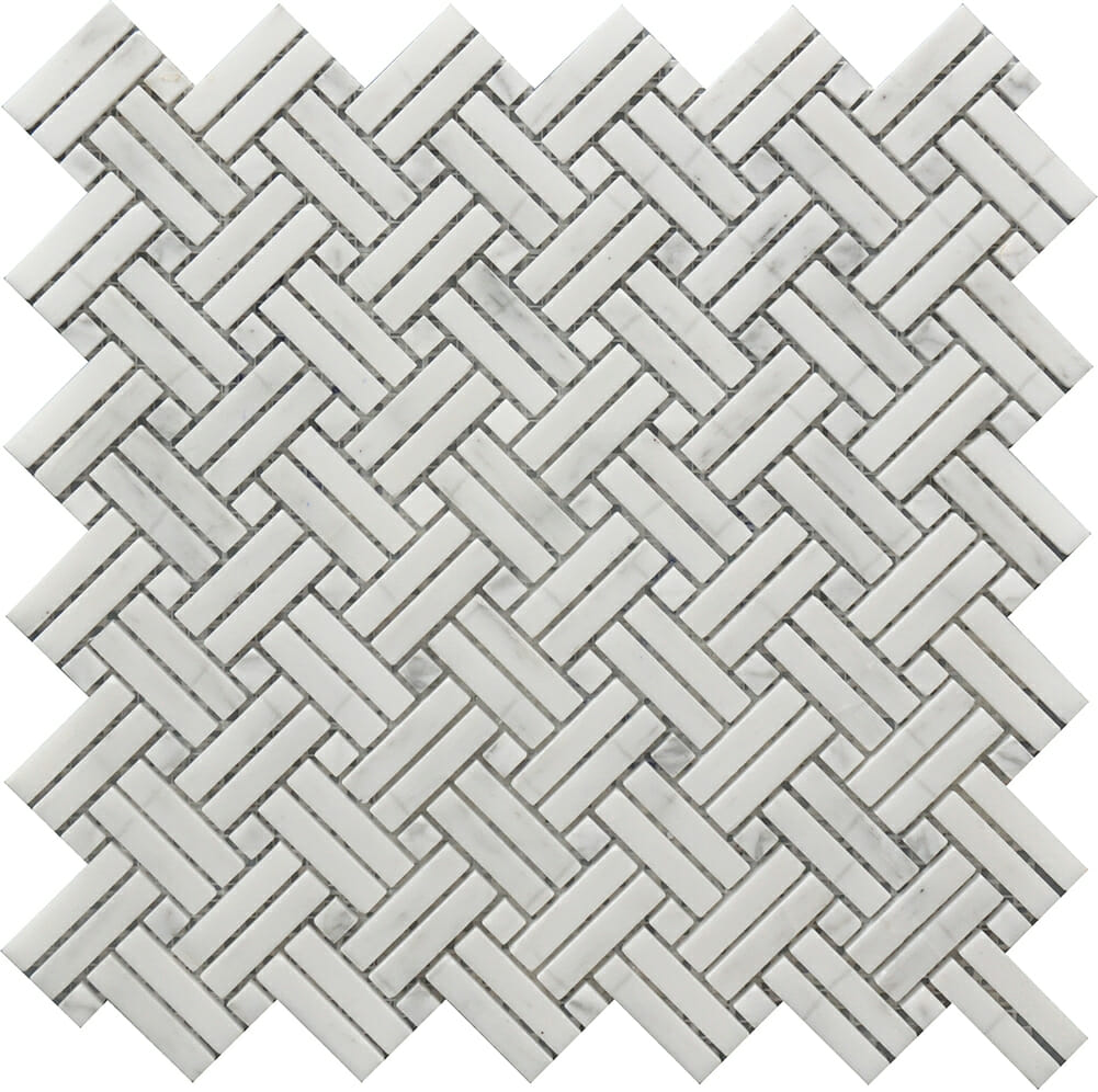 white and grey marble deco basket weaves