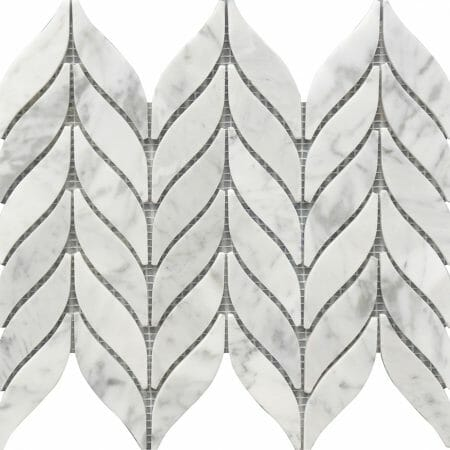 white and grey marble mosaic Spike pattern