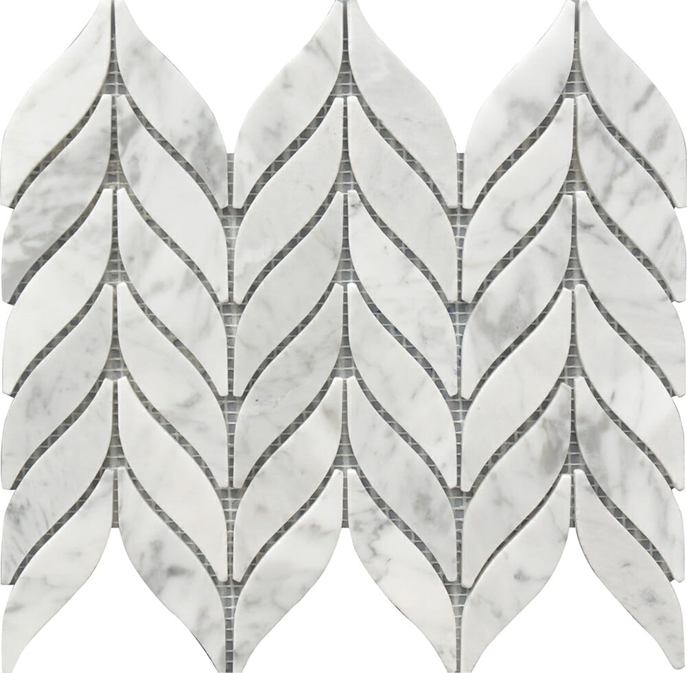 white and grey marble spike