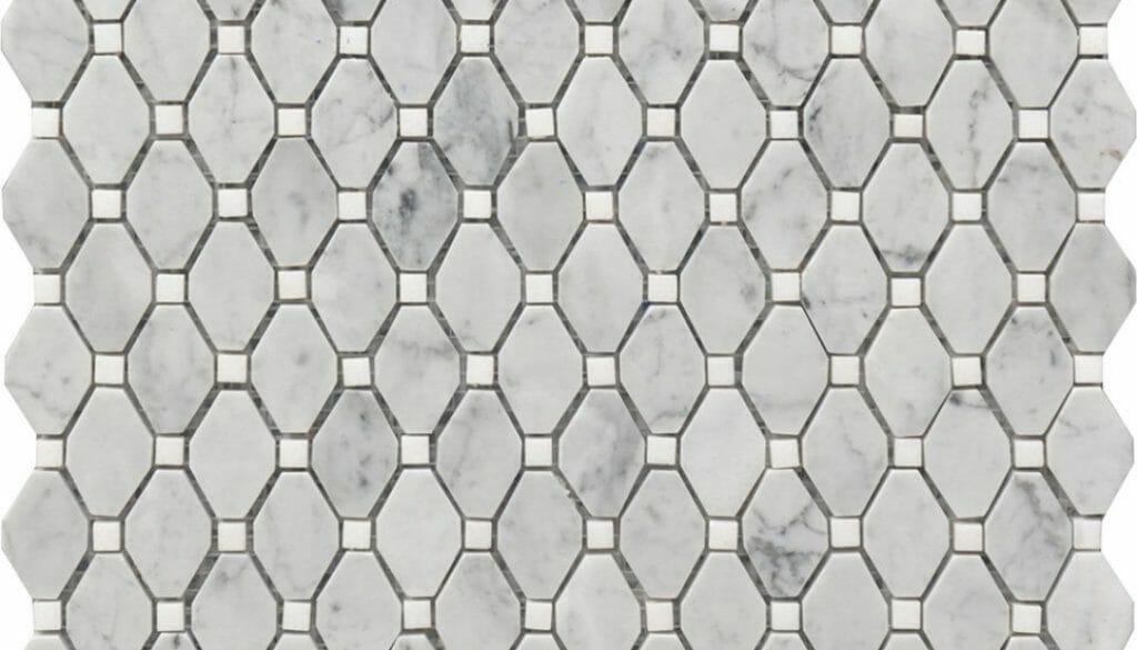 white and grey marble rhombus