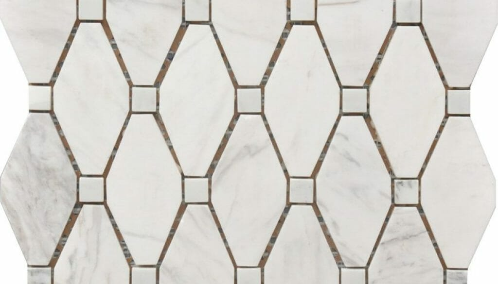 white and grey marble large rhombus pattern large