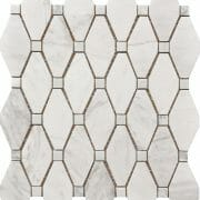white and grey marble large rhombus pattern large