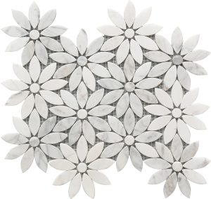 white and grey marble flower pattern