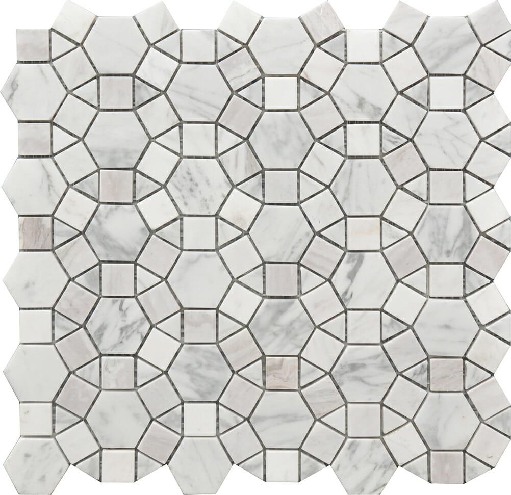 Kaleidoscope pattern marble