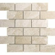 Diana Royal Beige Marble Subway Mosaic Tile