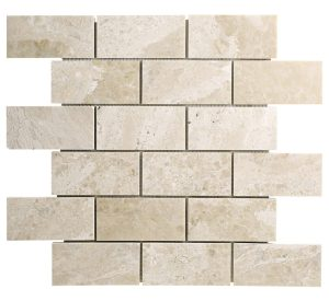 Diana Royal Beige Marble Subway Mosaic Tile