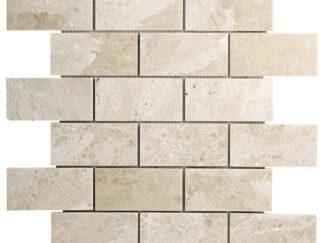 Diana Royal Beige Marble Subway Mosaic Til