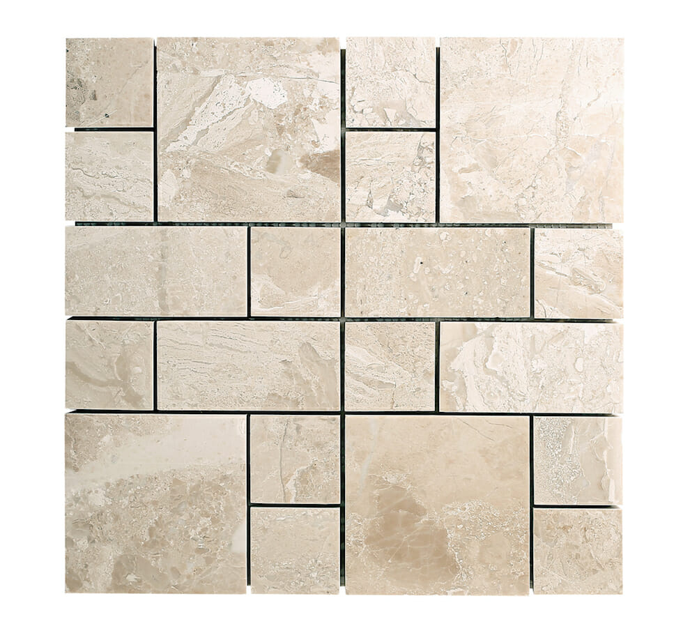 Diana Royal Beige Marble French Pattern Mosaic Tile