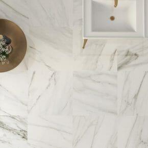 24x24 Marble Effect Porcelain Tile