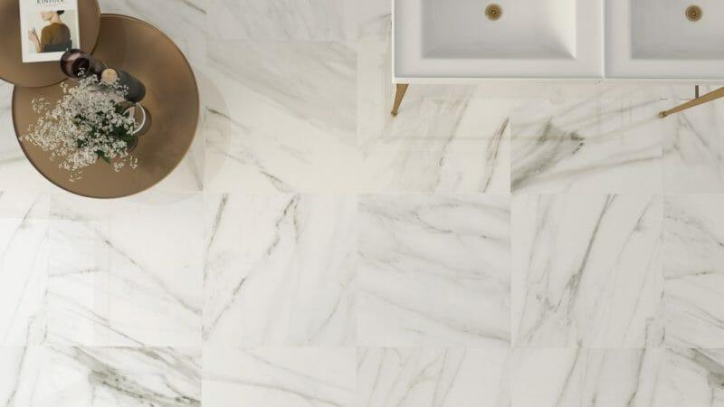 24x24 White Porcelain Tile