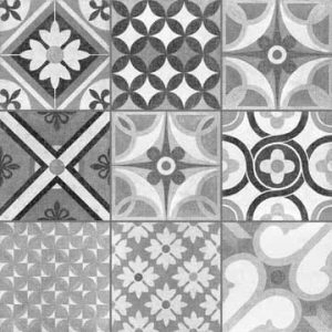 Decorative floor tile heritage mono