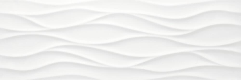 3D Wavy White Wall Tile