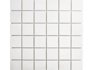 White Dolomite square mosaic tile for shower floors and wall, kitchen backsplash, bathroom wall or floors