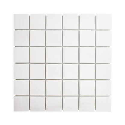 White Dolomite square mosaic tile for shower floors and wall, kitchen backsplash, bathroom wall or floors