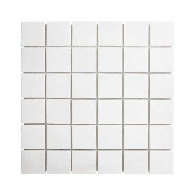 white dolomite squares mosaic tile
