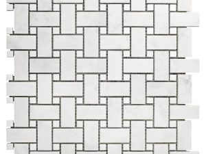 White Dolomite basket weaves with white dots is a beautiful decorative tile for amazing interiors.